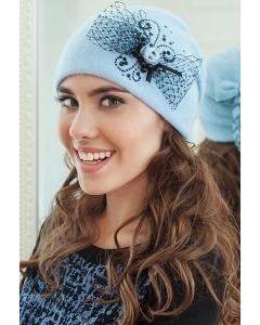 Женская шапка голубого цвета Landre Урсула