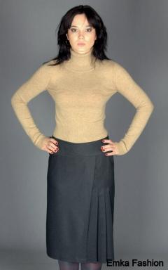 Миди-юбка серого цвета | 127-lider1