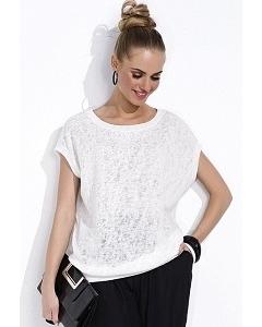Белая блузка с коротким рукавом Zaps Tiara