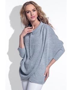 Женский свитер серого цвета Fimfi I160