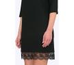 Нарядное платье с отделкой кружевом Emka PL732/egine