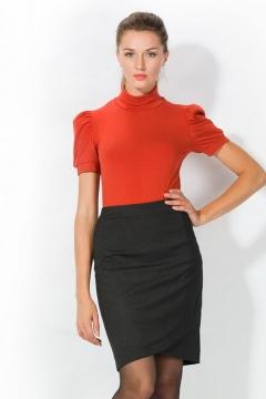 Трикотажная блузка кораллового цвета | 3608/1