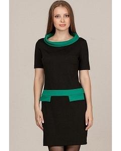 Черно-зеленое платье Remix 1858