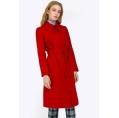Женское красное пальто из шерсти Emka R016/lalis