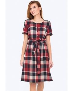 Весенне-летнее платье в клетку Emka Fashion PL-590/vivaldi