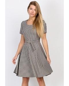 Платье в мелкую клеточку Emka Fashion PL-503/kira