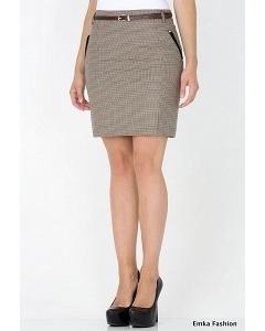 Короткая прямая юбка Emka Fashion 447-peggy