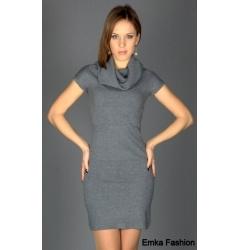 Недорогое трикотажное платье Yiky Fashion