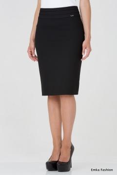 Юбка-карандаш черного цвета Emka Fashion 395-zlata