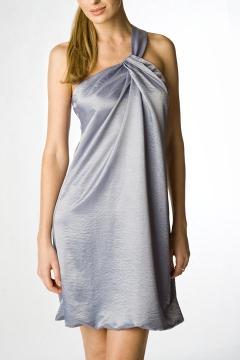 Платье из атласа Golub