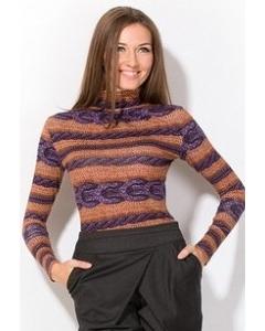 Фиолетово-оранжевая блузка | 3643/1