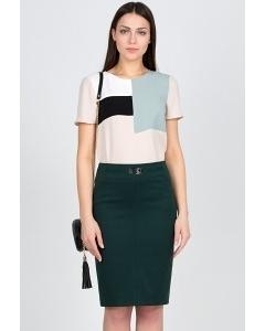 Тёмно-зелёная юбка Emka Fashion 442-rafaella