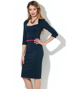 Тёмно-синее платье Donna Saggia DSP-201-41t