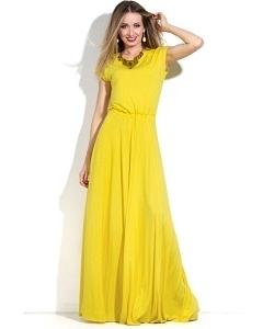 Длинное платье желтого цвета Donna Saggia DSP-150-54t