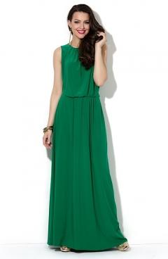 Длинное летнее платье зеленого цвета Donna Saggia DSP-34-73t