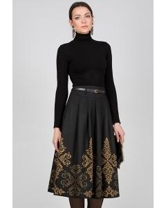 Чёрно-золотая юбка Emka Fashion 306-zena