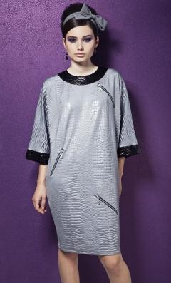 Светло-серое платье TopDesign Premium PB3 36