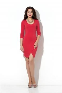 Коралловое платье с запАхом Donna Saggia DSP-200-30t