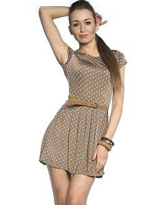 Коктейльное платье в горошек | DSP-57-46t