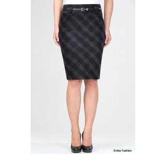Тёплая шерстяная юбка Emka Fashion 476-idel