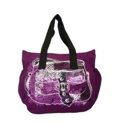 Стильная фиолетовая сумка Grizzly | Л-93
