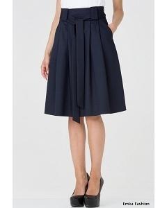 Тёмно-синяя юбка-колокол Emka Fashion 247-lorin