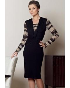 Комбинированное платье TopDesign Premium | РВ2 13