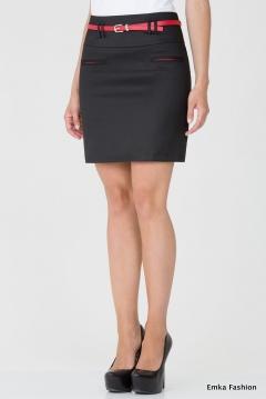 Короткая черная юбка Emka Fashion 453-vega
