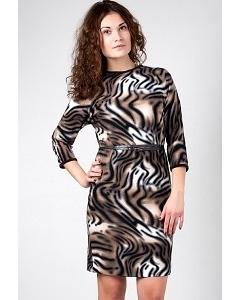Леопардовое платье Golub П232-1727-1717