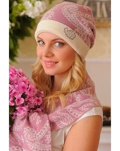 Комплект (шапка+шарф) Landre Вероника (розовый с молоком)
