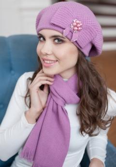 Комплект (шапка+шарф) Landre Серафима (розовый)