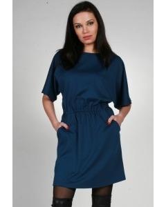Стильное синее платье Chertina & Durre | 9966