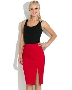 Красная юбка Donna Saggia DSU-18-29