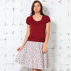 Бордовая женская футболка Remix