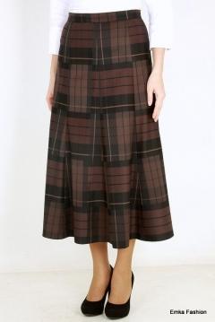 Темно-коричневая юбка Emka Fashion 426-brenda
