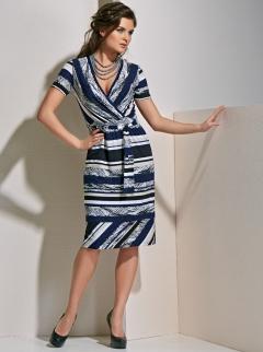 Платье в полоску TopDesign A4 053