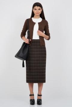 Длинная черно-коричневая юбка Emka Fashion 501-liberty