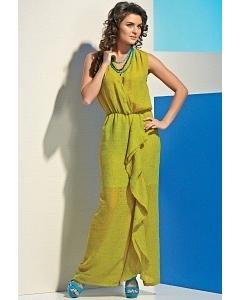 Зеленое платье TopDesign A4 154