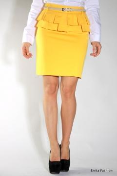 Желтая юбка Emka Fashion | 358-vanda