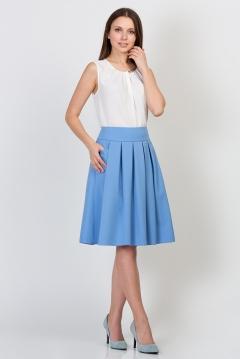 Юбка нежно-голубого цвета Emka Fashion 552-alie