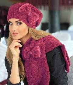 Женский комплект шапка с шарфом Kamea Arleta