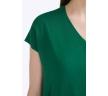 Летняя свободная блузка зеленого цвета Emka B2314/calvin