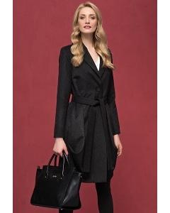 Женское чёрное шерстяное пальто Zaps Ever