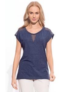 Тёмно-синяя блузка Sanwear W12-2