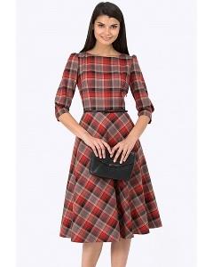 Классическое клетчатое платье Emka PL-407/rishi