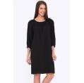 Чёрное платье А-силуэта из мягкой вискозы Emka PL-619/bazara