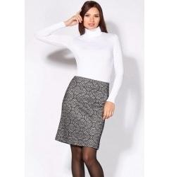 Стильная черно-белая юбка