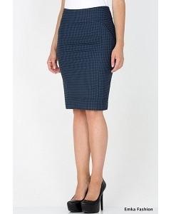 Юбка с узором гусиная лапка Emka Fashion 405-sambuka