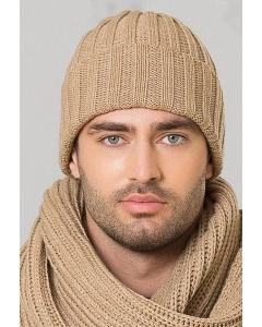 Мужская шапка светло-бежевого цвета Landre Берлин