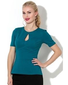 Блузка с вырезом замочная скважина Donna Saggia DSB-02-35t
